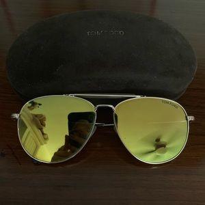 Tom Ford mirrored lenses aviators